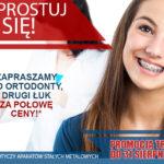 wyprostuj się ortodoncja plakat